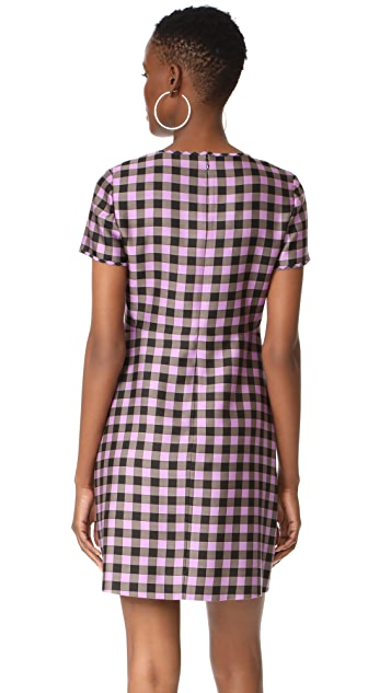 Diane von Furstenberg Crew Neck Mini Dress
