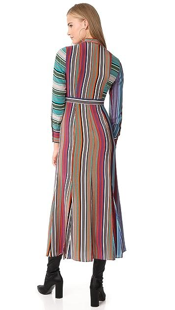 Diane von Furstenberg Collared Flare Shirt Dress
