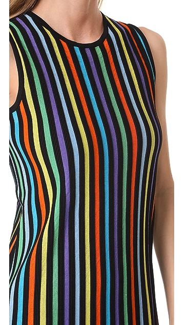 Diane von Furstenberg Sleeveless Two Tiered Knit Dress