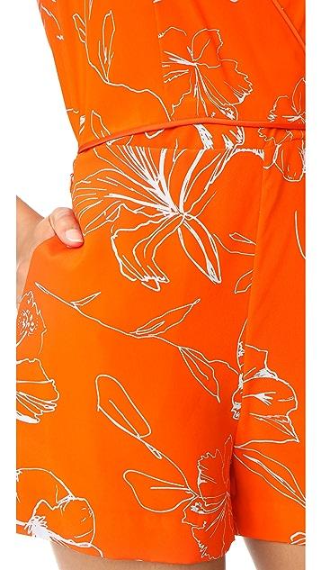 Diane von Furstenberg Sleeveless Side Tie Romper