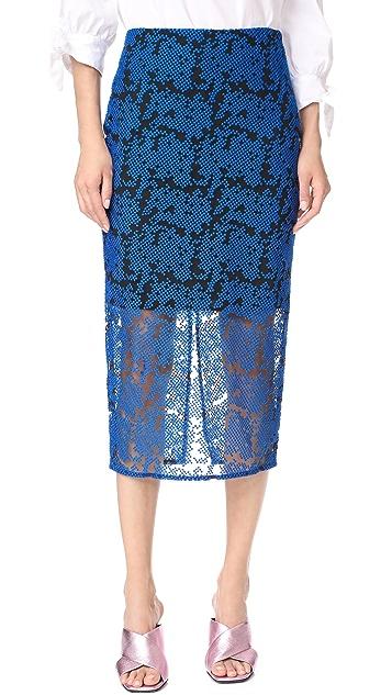 Diane von Furstenberg Overlay Tailored Pencil Skirt