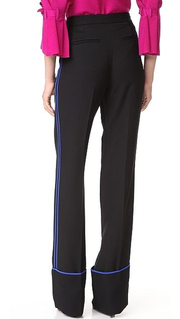 Diane von Furstenberg Wide Leg Cuffed Pants