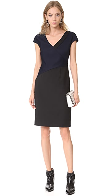 Diane von Furstenberg V Neck Banded Dress