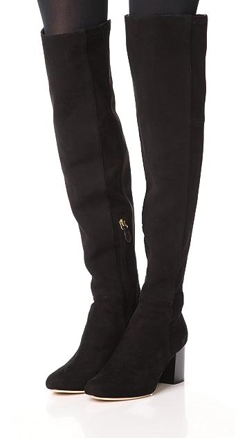 100% Original Online Diane Von Furstenberg Woman Suede Knee Boots Dark Gray Size 6 Diane Von F Outlet Low Cost NPcDoI
