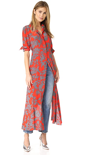 Diane von Furstenberg Maxi Length Shirtdress