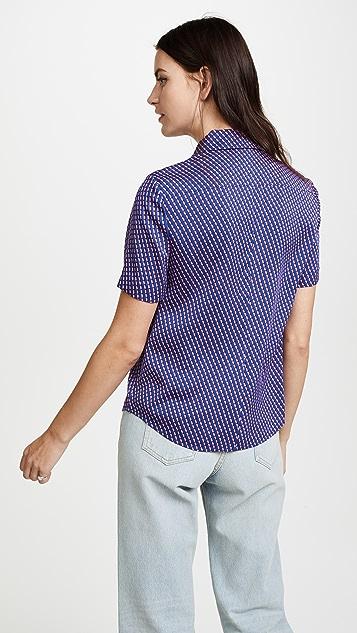 Diane von Furstenberg Short Sleeve Collar Shirt