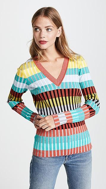 Diane von Furstenberg V Neck Pullover
