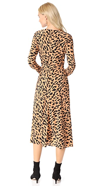 Diane von Furstenberg L / S Woven Wrap Dress