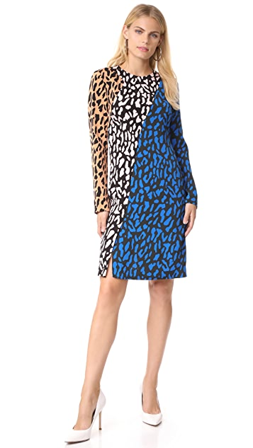 Diane von Furstenberg Long Sleeve Bias Fitted Dress