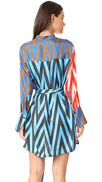 Diane von Furstenberg Long Sleeve Shirt Dress