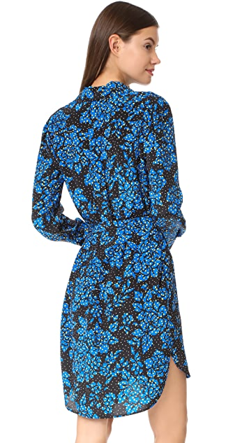 Diane von Furstenberg Flower Shirtdress