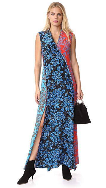 Diane von Furstenberg Sleeveless Paneled Bias Floorlength Dress