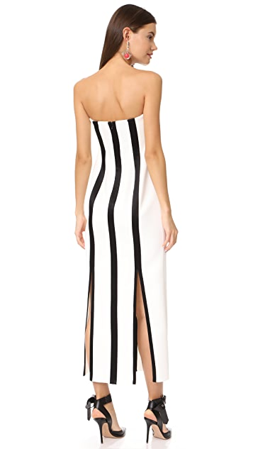 Diane von Furstenberg Strapless Structured Midi Dress