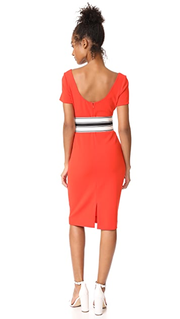Diane von Furstenberg Scoop Neck Belted Dress