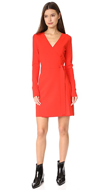 Diane von Furstenberg V Neck Knit Wrap Dress