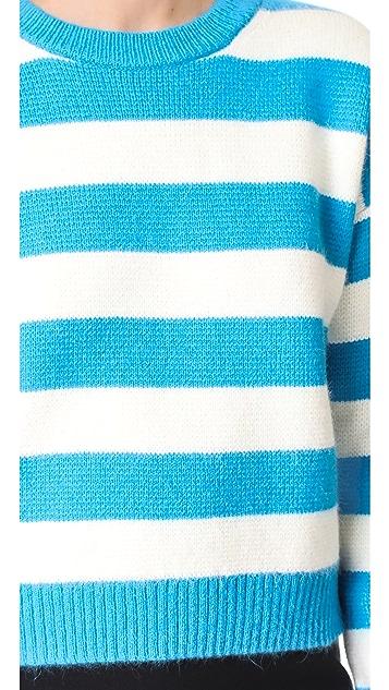 Diane von Furstenberg Striped Baseball Pullover