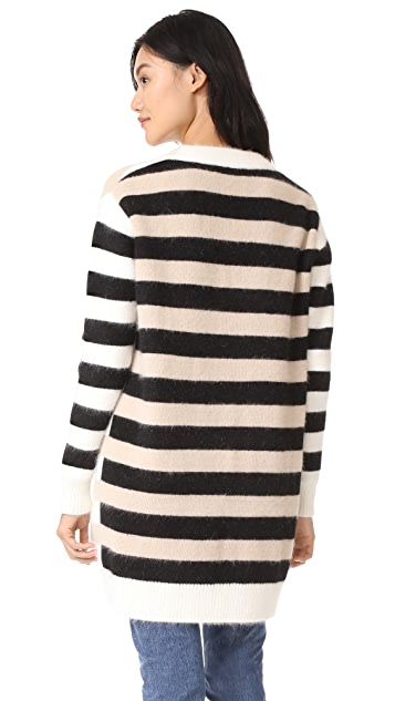 Diane von Furstenberg Striped Cardigan
