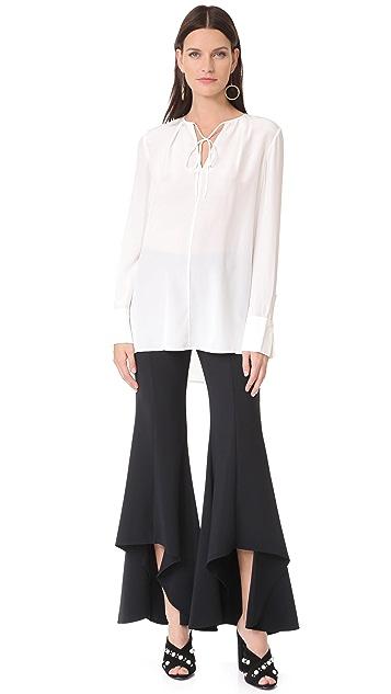 Diane von Furstenberg Tie Front Blouse