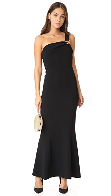 Diane von Furstenberg One Shoulder Fluid Gown