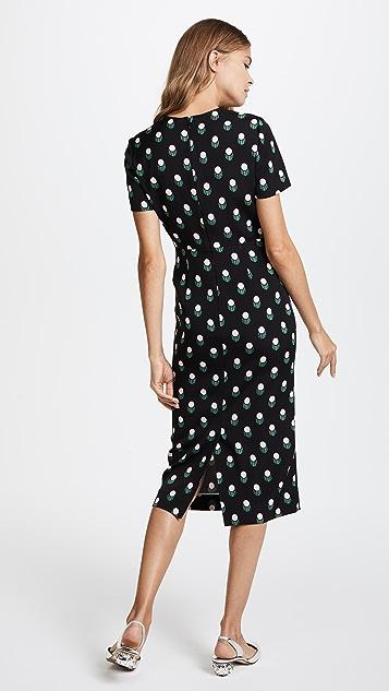 Diane von Furstenberg Short Sleeve Crew Neck Dress