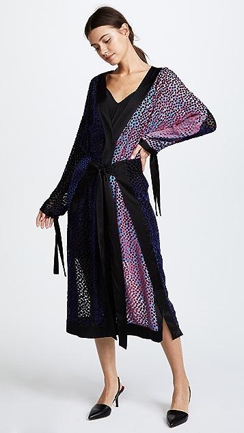 Diane von Furstenberg Long Sleeve Kimono Dress