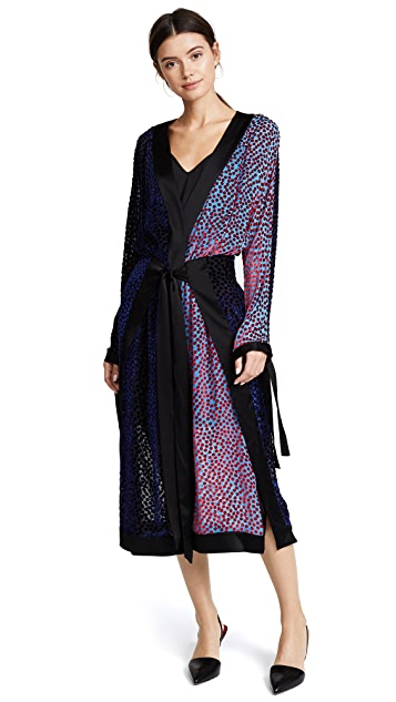 Diane von Furstenberg Long Sleeve Kimono Dress