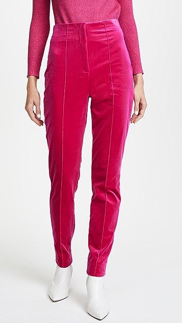 Diane von Furstenberg High Waisted Skinny Velvet Pants