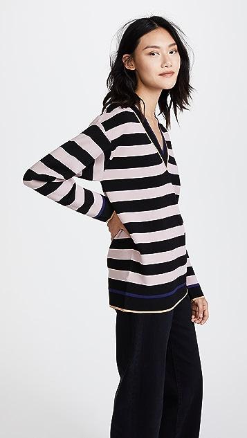 Diane von Furstenberg V Neck Oversized Pullover