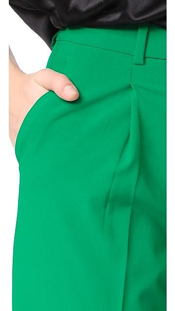 Diane von Furstenberg Pleat Front Pants