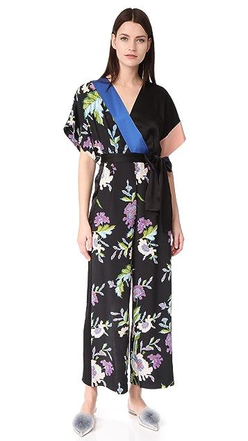 555b635f0b5f Diane von Furstenberg S/S Faux Wrap Jumpsuit | SHOPBOP