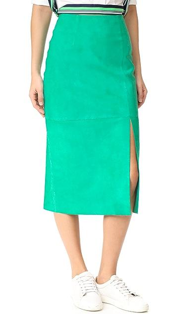 b8bf2285d Diane von Furstenberg Side Slit Suede Skirt | SHOPBOP