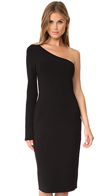 Diane von Furstenberg One Shoulder Long Sleeve Knit Dress