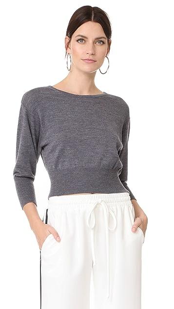 Diane von Furstenberg Cropped Knit Pullover