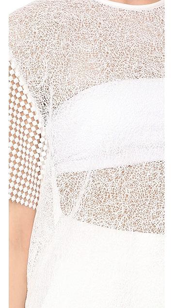 Diane von Furstenberg Shirt with Twig Lace