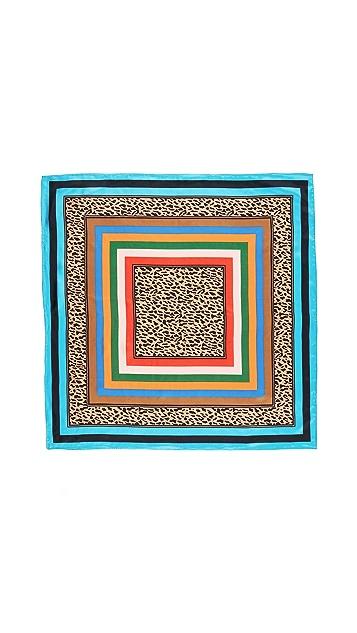 Diane von Furstenberg Belmont Stripe Square Scarf