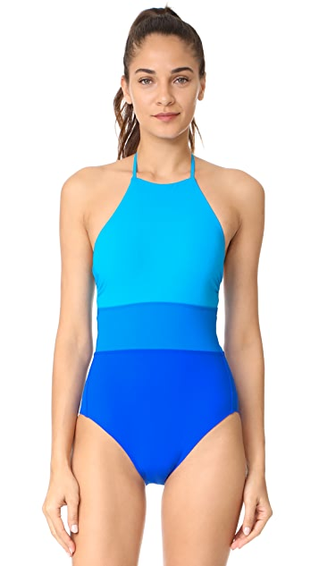 Diane von Furstenberg Colorblock One Piece