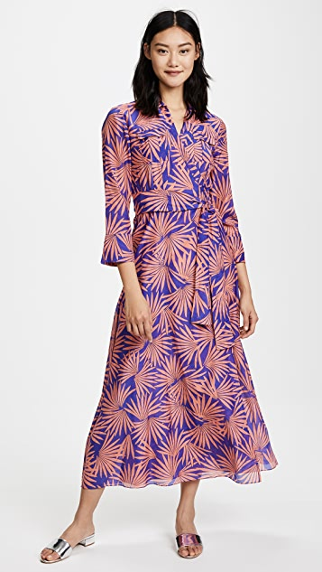 Floral-print Wrap Dress - Blue Diane Von F iBdLIYcv4