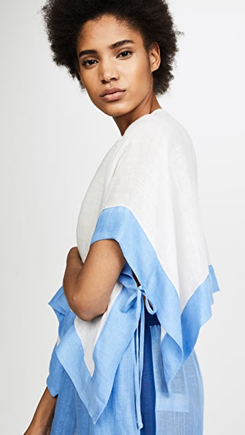Diane von Furstenberg Short Sleeve Linen Shirt