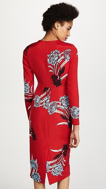 Diane von Furstenberg Crew Neck Tailored Dress