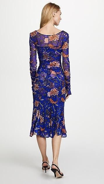 Diane von Furstenberg Overlay Mesh Dress