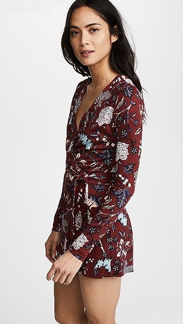 Diane von Furstenberg Celeste 长袖镶边短款连身衣
