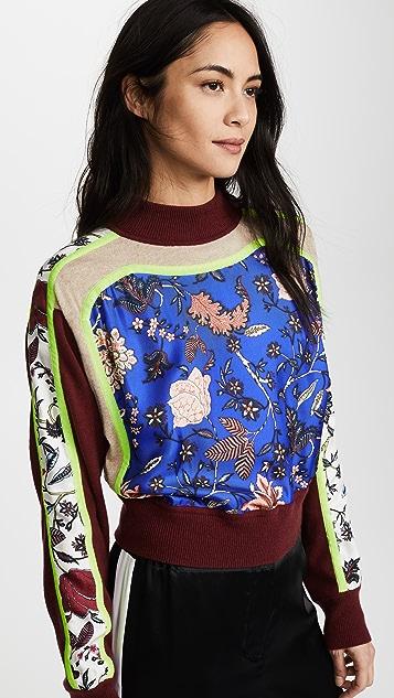 Diane von Furstenberg Knit Cropped Pullover