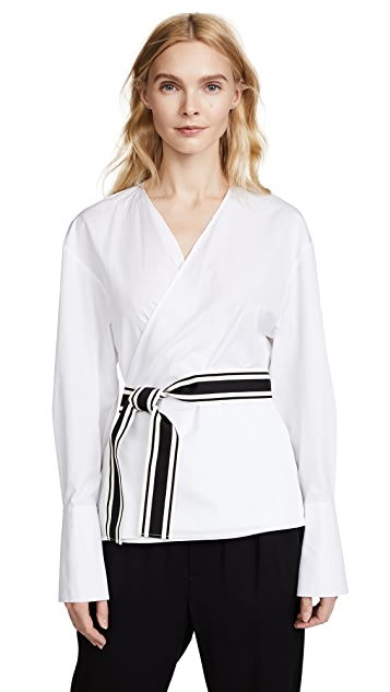 Diane von Furstenberg Cross Over Tied Blouse
