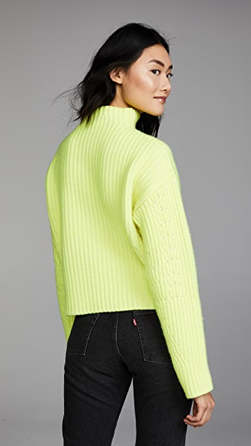 Diane von Furstenberg Long Sleeve Chunky Ribbed Sweater