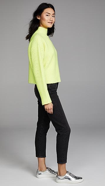 Diane von Furstenberg Long Sleeve Chunky Ribbed Sweater