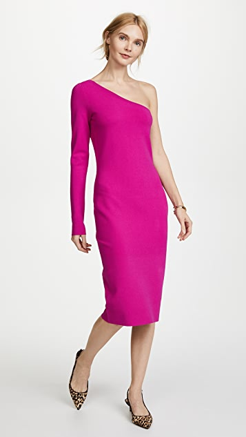 Diane von Furstenberg One Shoulder Knit Dress