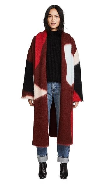 Diane von Furstenberg Intarsia Coat
