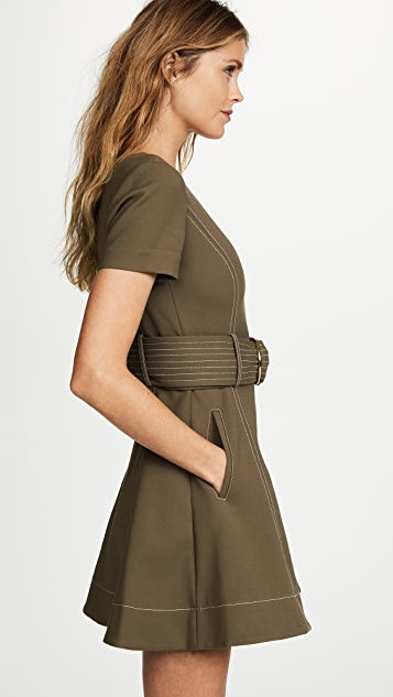 Diane von Furstenberg D Ring Fit & Flare Dress
