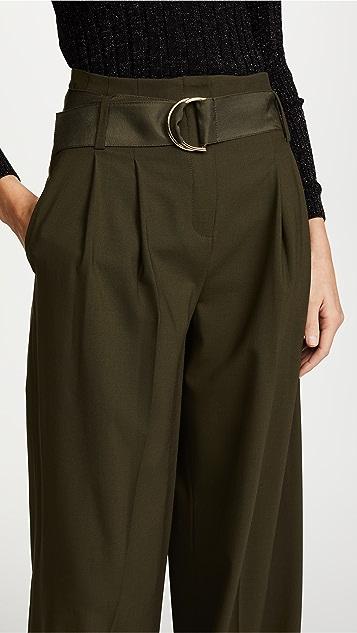 Diane von Furstenberg Wide Leg Belted Pants