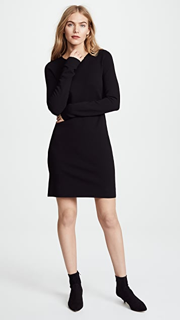Diane von Furstenberg Crew Neck Knit Dress - Black